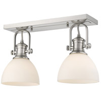 Golden Lighting 3118-2SF-PW-OP Hines 2 Light 18 inch Pewter Semi-Flush Ceiling Light