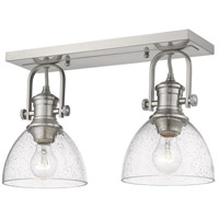 Golden Lighting 3118-2SF-PW-SD Hines 2 Light 18 inch Pewter Semi-Flush Ceiling Light