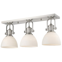 Golden Lighting 3118-3SF-PW-OP Hines 3 Light 25 inch Pewter Semi-Flush Ceiling Light