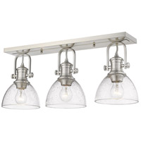 Golden Lighting 3118-3SF-PW-SD Hines 3 Light 25 inch Pewter Semi-Flush Ceiling Light