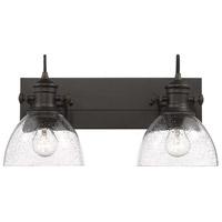 Golden Lighting 3118-BA2-RBZ-SD Hines 2 Light 18 inch Rubbed Bronze Bath Vanity Light Wall Light