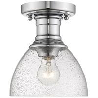Golden Lighting 3118-SF-CH-SD Hines 1 Light 7 inch Chrome Semi-Flush Ceiling Light
