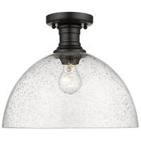 Golden Lighting 3118-SF14-BLK-SD Hines 1 Light 14 inch Black Semi-Flush Ceiling Light