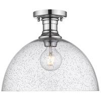 Golden Lighting 3118-SF14-CH-SD Hines 1 Light 14 inch Chrome Semi-Flush Ceiling Light