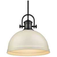 Golden Lighting 3120-L-BLK-PR Temporary 1 Light 14 inch Black Pendant Ceiling Light