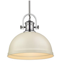 Golden Lighting 3120-L-CH-PR Temporary 1 Light 14 inch Chrome Pendant Ceiling Light