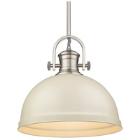 Golden Lighting 3120-L-PW-PR Temporary 1 Light 14 inch Pewter Pendant Ceiling Light