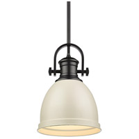 Golden Lighting 3120-S-BLK-PR Temporary 1 Light 9 inch Black Mini Pendant Ceiling Light