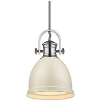 Golden Lighting 3120-S-CH-PR Temporary 1 Light 9 inch Chrome Mini Pendant Ceiling Light