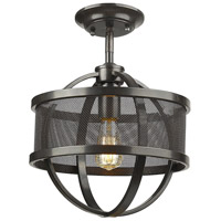 Colson 1 Light 11 inch Etruscan Bronze Semi-Flushmount Ceiling Light