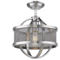 Golden Lighting 3167-1SF-PW-PW Colson 1 Light 11 inch Pewter Semi-Flushmount Ceiling Light