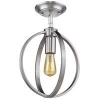 Golden Lighting 3167-1SF-PW Colson 1 Light 10 inch Pewter Semi-Flushmount Ceiling Light