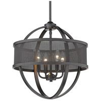 Golden Lighting 3167-4P-BLK-BLK Colson 4 Light 17 inch Matte Black Chandelier - Mini Ceiling Light