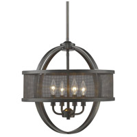 Golden Lighting 3167-4P-EB-EB Colson 4 Light 18 inch Etruscan Bronze Chandelier Ceiling Light