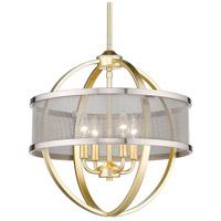 Golden Lighting 3167-4P-OG-PW Colson 4 Light 17 inch Olympic Gold Chandelier - Mini Ceiling Light in Pewter
