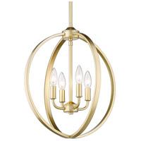 Golden Lighting 3167-4P-OG Colson 4 Light 17 inch Olympic Gold Chandelier - Mini Ceiling Light in No Shade