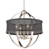 Golden Lighting 3167-4P-PW-BLK Colson PW 4 Light 17 inch Pewter Chandelier - Mini Ceiling Light photo thumbnail