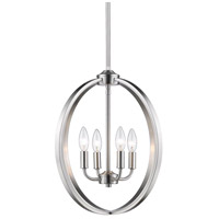 Colson 4 Light 17 inch Pewter Chandelier Ceiling Light in No Shade