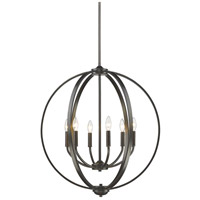 Colson 6 Light 26 inch Etruscan Bronze Chandelier Ceiling Light in No Shade