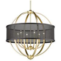 Golden Lighting 3167-6-OG-BLK Colson 6 Light 27 inch Olympic Gold Chandelier Ceiling Light in Matte Black