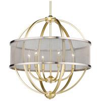 Golden Lighting 3167-6-OG-PW Colson 6 Light 27 inch Olympic Gold Chandelier Ceiling Light in Pewter
