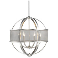 Colson 6 Light 27 inch Pewter Chandelier Ceiling Light