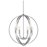 Golden Lighting 3167-6-PW Colson 6 Light 26 inch Pewter Chandelier Ceiling Light in No Shade