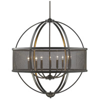 Colson 9 Light 33 inch Etruscan Bronze Chandelier Ceiling Light