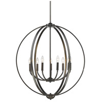Colson 9 Light 31 inch Etruscan Bronze Chandelier Ceiling Light in No Shade