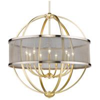 Golden Lighting 3167-9-OG-PW Colson 9 Light 33 inch Olympic Gold Chandelier - Large Ceiling Light in Pewter
