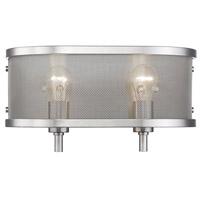 Golden Lighting 3167-BA2-PW Colson 2 Light 15 inch Pewter Bath Fixture Wall Light