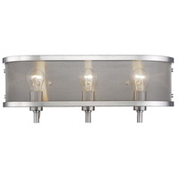 Colson 3 Light 21 inch Pewter Bath Vanity Wall Light