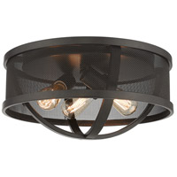 Golden Lighting 3167-FM15-EB-EB Colson 3 Light 15 inch Etruscan Bronze Flush Mount Ceiling Light