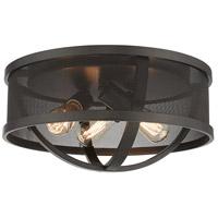 Golden Lighting 3167-FM15-EB-EB Colson 3 Light 15 inch Etruscan Bronze Flush Mount Ceiling Light