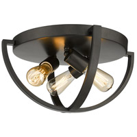 Golden Lighting 3167-FM15-EB Colson 3 Light 14 inch Etruscan Bronze Flush Mount Ceiling Light