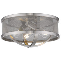 Golden Lighting 3167-FM15-PW-PW Colson 3 Light 15 inch Pewter Flush Mount Ceiling Light