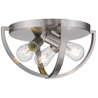 Golden Lighting 3167-FM15-PW Colson 3 Light 14 inch Pewter Flush Mount Ceiling Light