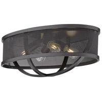 Golden Lighting 3167-FM24-BLK-BLK Colson 4 Light 24 inch Matte Black Flush Mount - Damp Ceiling Light