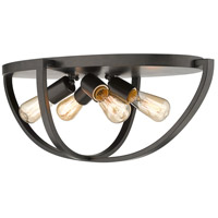 Golden Lighting 3167-FM24-EB Colson 4 Light 23 inch Etruscan Bronze Flush Mount Ceiling Light