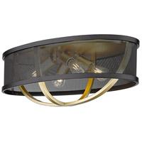 Golden Lighting 3167-FM24 OG-BLK Colson 4 Light 24 inch Olympic Gold/Matte Black Flush Mount Ceiling Light Damp