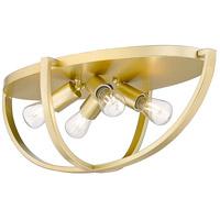 Golden Lighting 3167-FM24 OG Colson 4 Light 23 inch Olympic Gold Flush Mount Ceiling Light in No Shade Damp