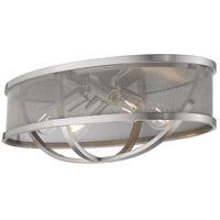Golden Lighting 3167-FM24-PW-PW Colson 4 Light 24 inch Pewter Flush Mount Ceiling Light