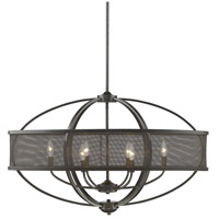 Colson 6 Light 36 inch Etruscan Bronze Linear Pendant Ceiling Light