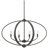 Golden Lighting 3167-LP-EB Colson 6 Light 35 inch Etruscan Bronze Linear Pendant Ceiling Light in No Shade