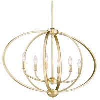 Golden Lighting 3167-LP-OG Colson 6 Light 35 inch Olympic Gold Linear Pendant Ceiling Light in No Shade