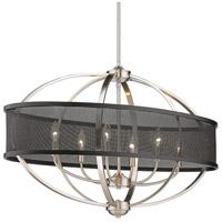 Golden Lighting 3167-LP PW-BLK Colson 6 Light 36 inch Pewter/Matte Black Linear Pendant Ceiling Light