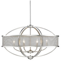 Colson 6 Light 36 inch Pewter Linear Pendant Ceiling Light