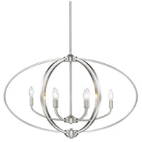 Golden Lighting 3167-LP-PW Colson 6 Light 35 inch Pewter Linear Pendant Ceiling Light in No Shade