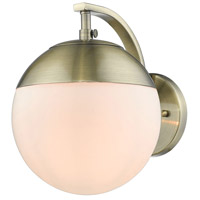 Dixon 1 Light 8 inch Aged Brass Wall Sconce Wall Light