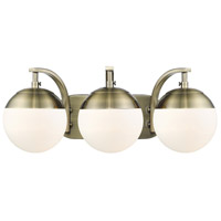 Aged Steel Bathroom Vanity Lights